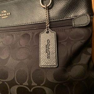 Black Leather Crossbody Coach Bag